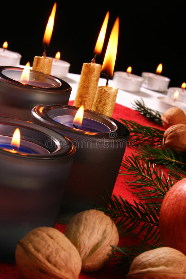Święta świec obraz royalty free