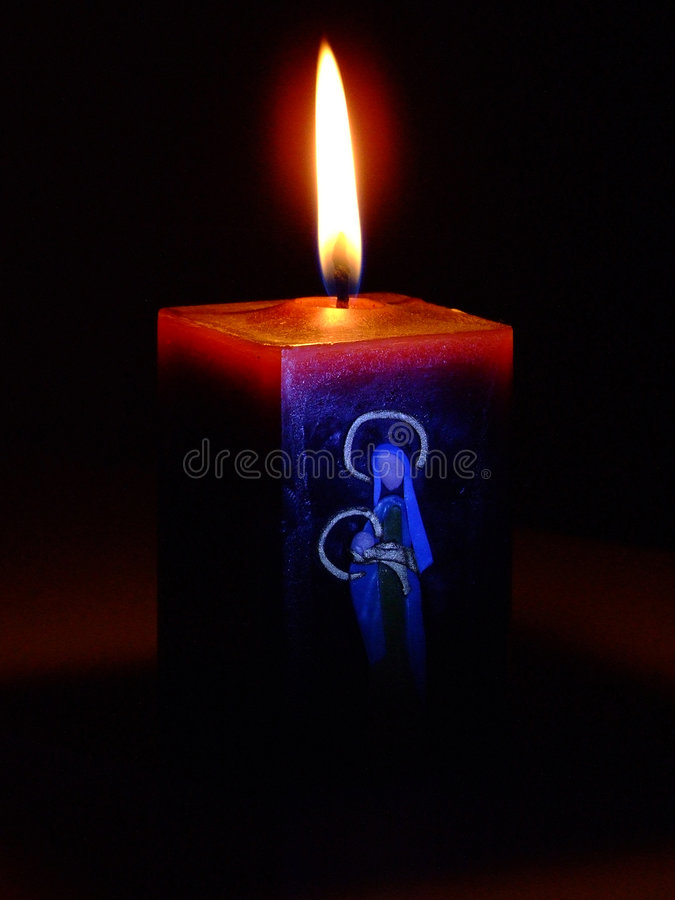 Święta świec zdjęcie royalty free