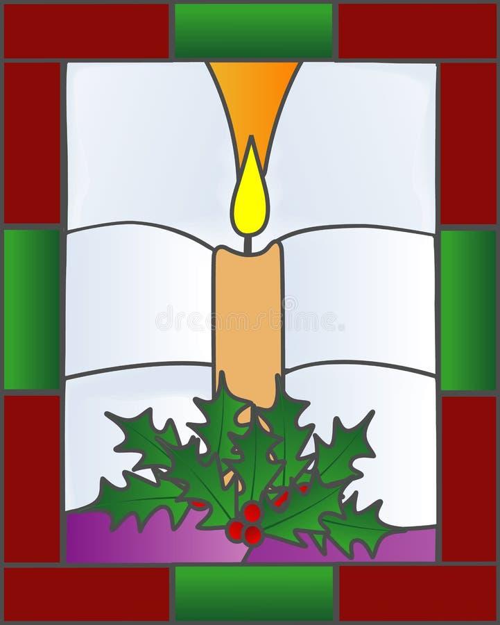 Święta świec, szkło oznaczane royalty ilustracja