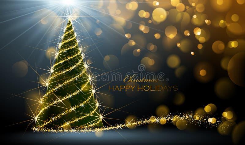 Święta świeci drzewa royalty ilustracja