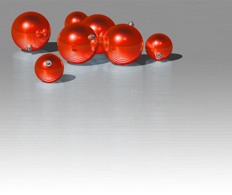 Święta bal czerwone ilustracja wektor