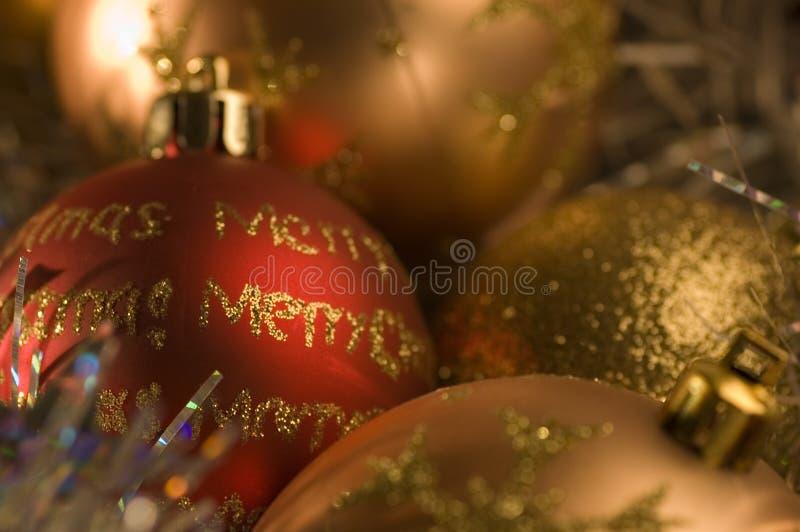 Święta bauble dekoracje obrazy royalty free