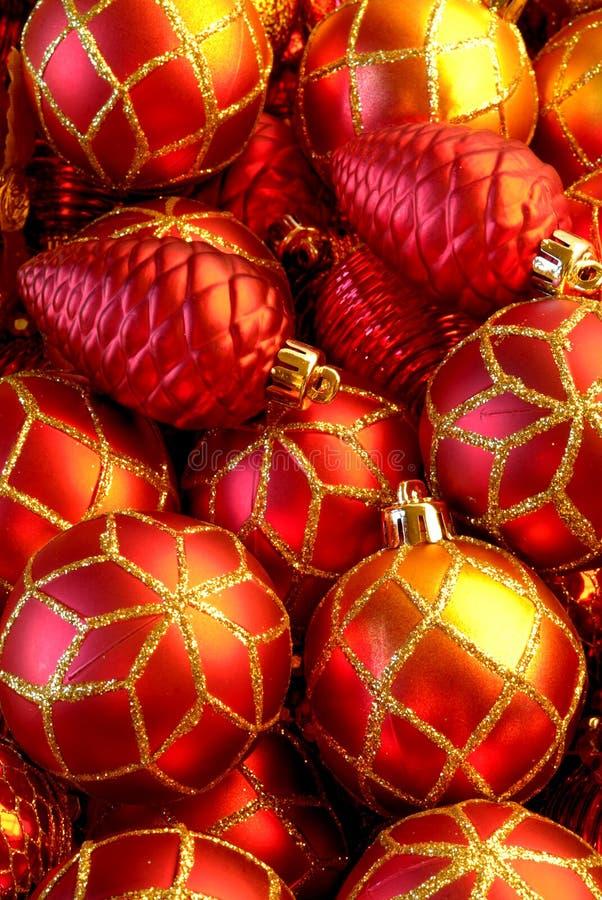 Święta baubles fotografia stock