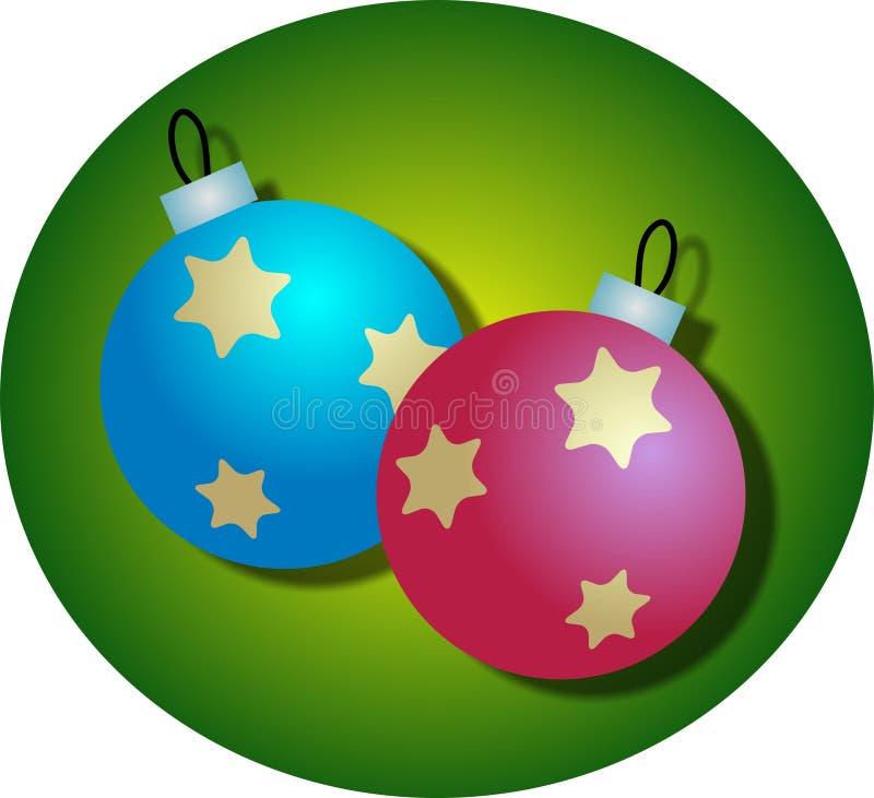 Download Święta baubles ilustracji. Ilustracja złożonej z ornament - 37740