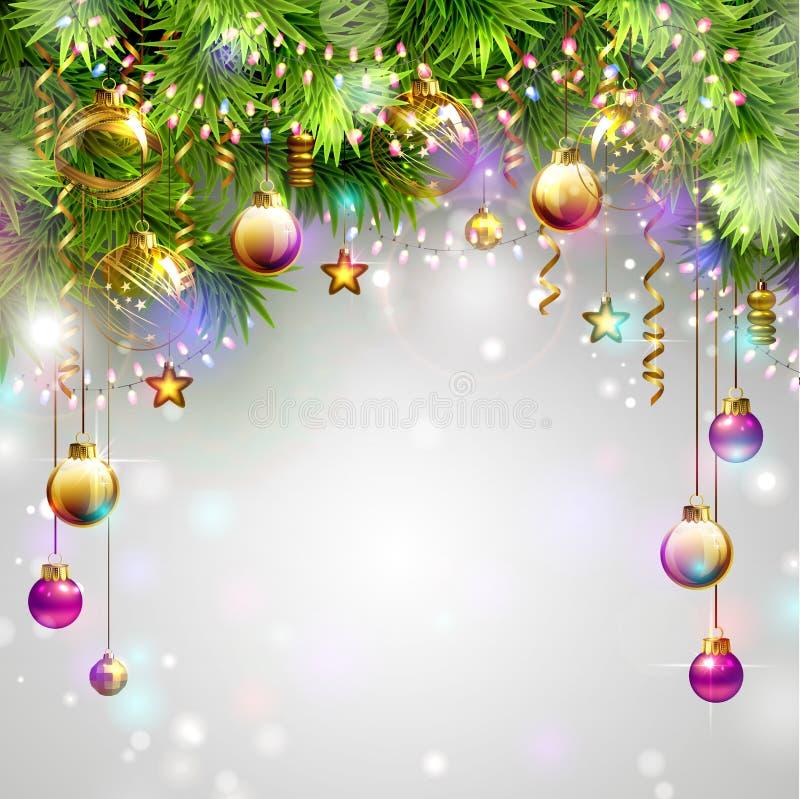Święta baubles ilustracja wektor