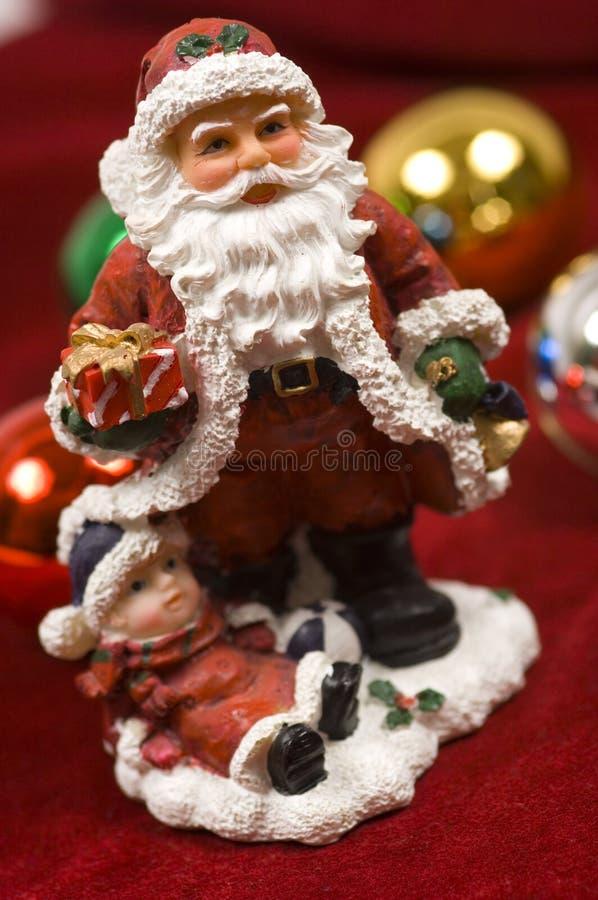 święta bożego dekoracje figurka Santa Claus zdjęcie stock