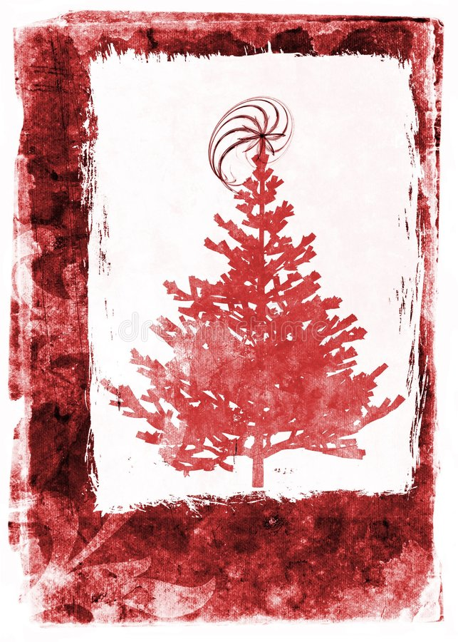 święta bożego karty grunge czerwony royalty ilustracja