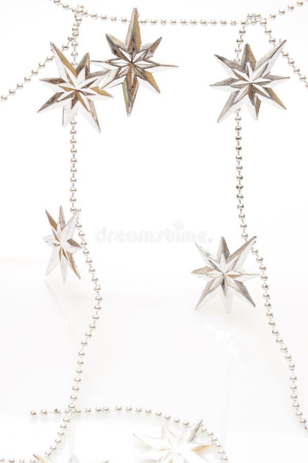 święta bożego srebro gwiazdy fotografia royalty free