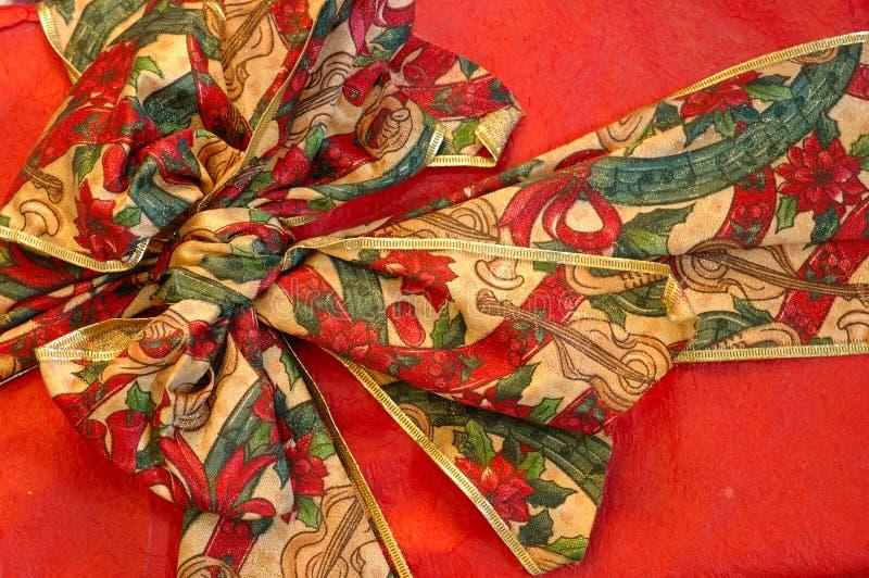 Święta ciągnąć prezentu wstążki fotografia stock