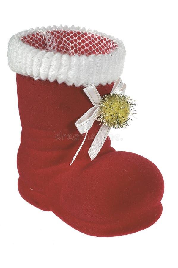 Święta czerwone buty zdjęcie stock