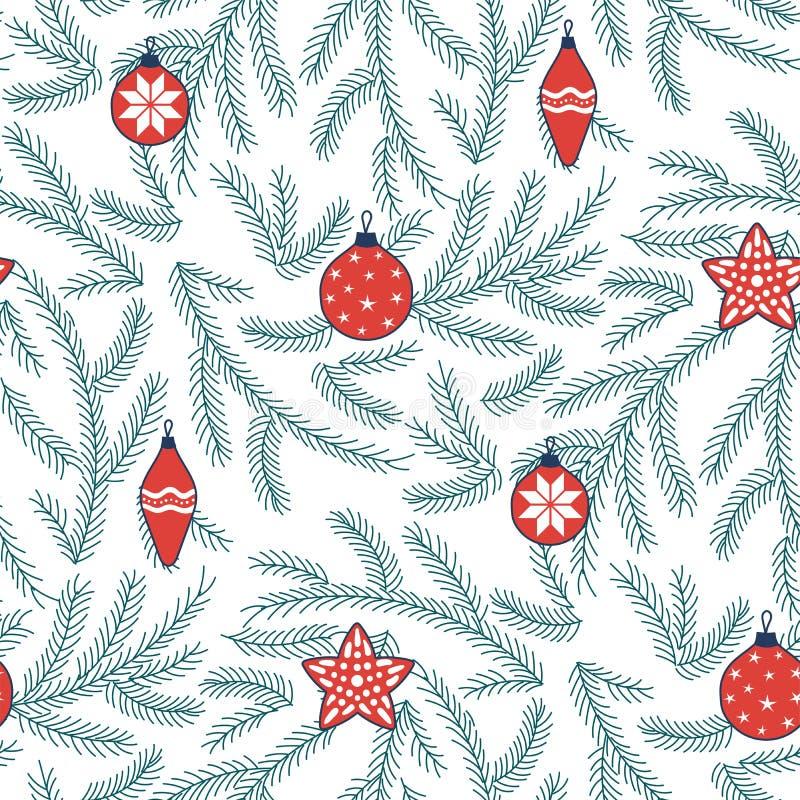 Święta deseniują bezszwowego ilustracji