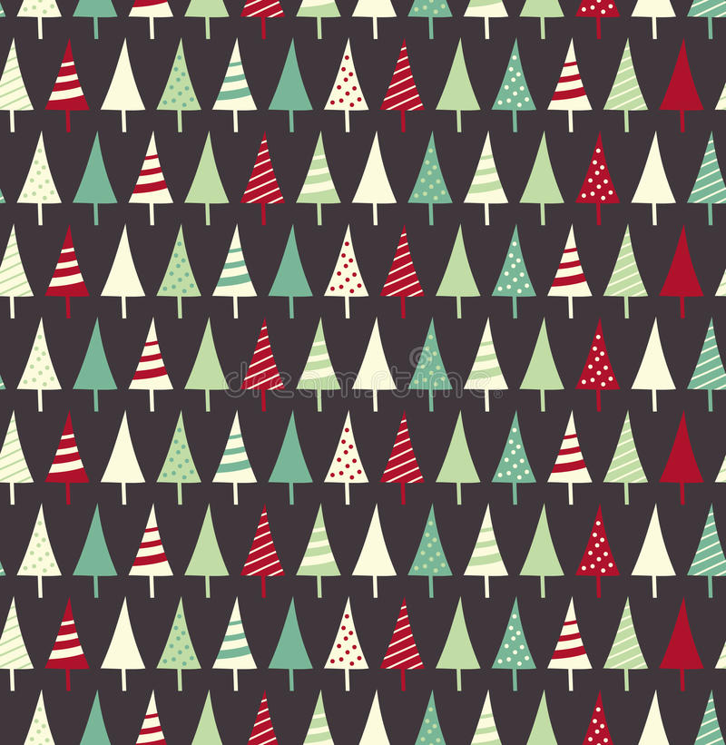 Święta deseniują bezszwowego ilustracja wektor