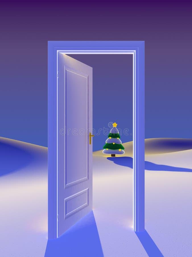 Święta drzwi ilustracji