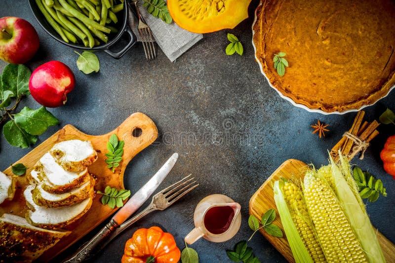 Święta Dziękczynienia jedzenie obraz stock