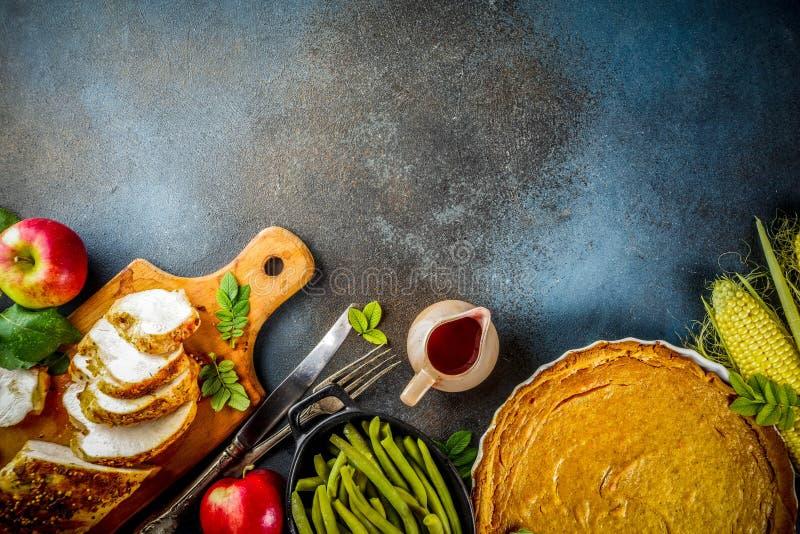 Święta Dziękczynienia jedzenie fotografia stock