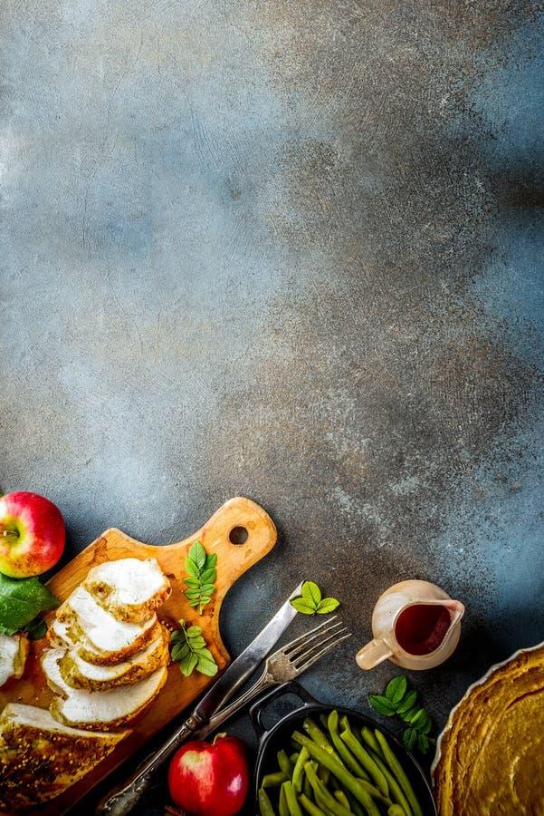 Święta Dziękczynienia jedzenie zdjęcie stock