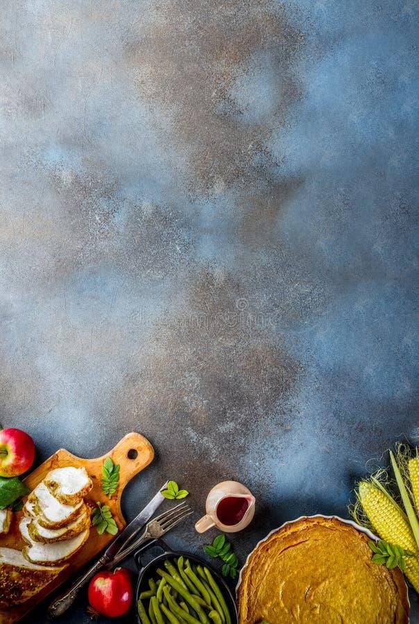 Święta Dziękczynienia jedzenie obrazy stock