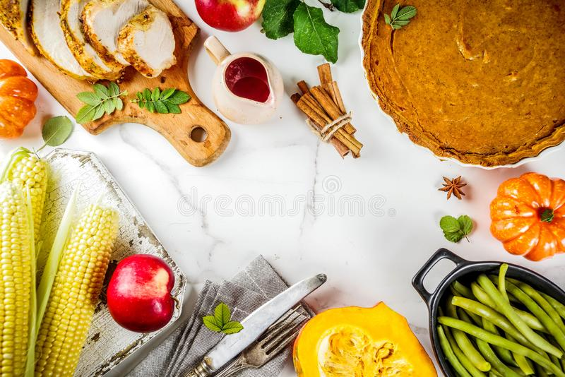 Święta Dziękczynienia jedzenie obrazy royalty free