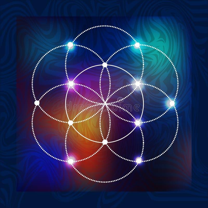 Święta geometria 1 royalty ilustracja