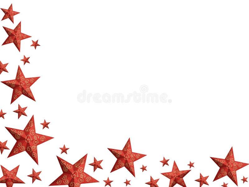 Święta jaskrawe czerwone odizolować gwiazdy royalty ilustracja