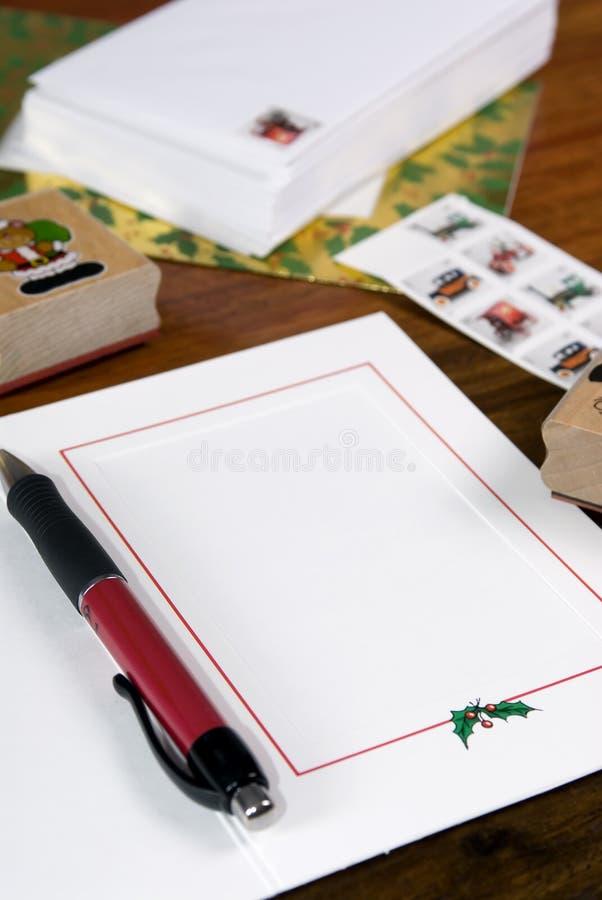 Święta karty pisać obraz stock