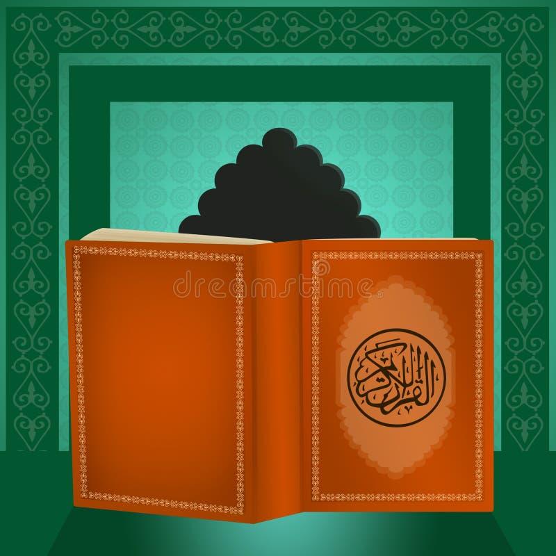 Święta księga Koran ilustracji