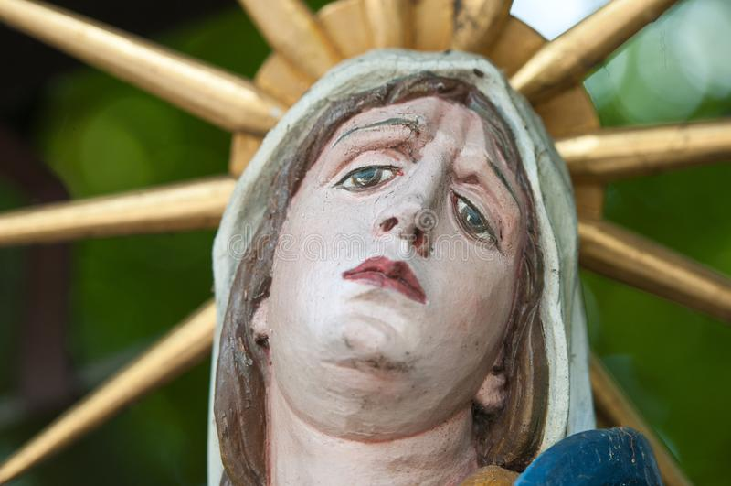 Święta Maria statua fotografia royalty free