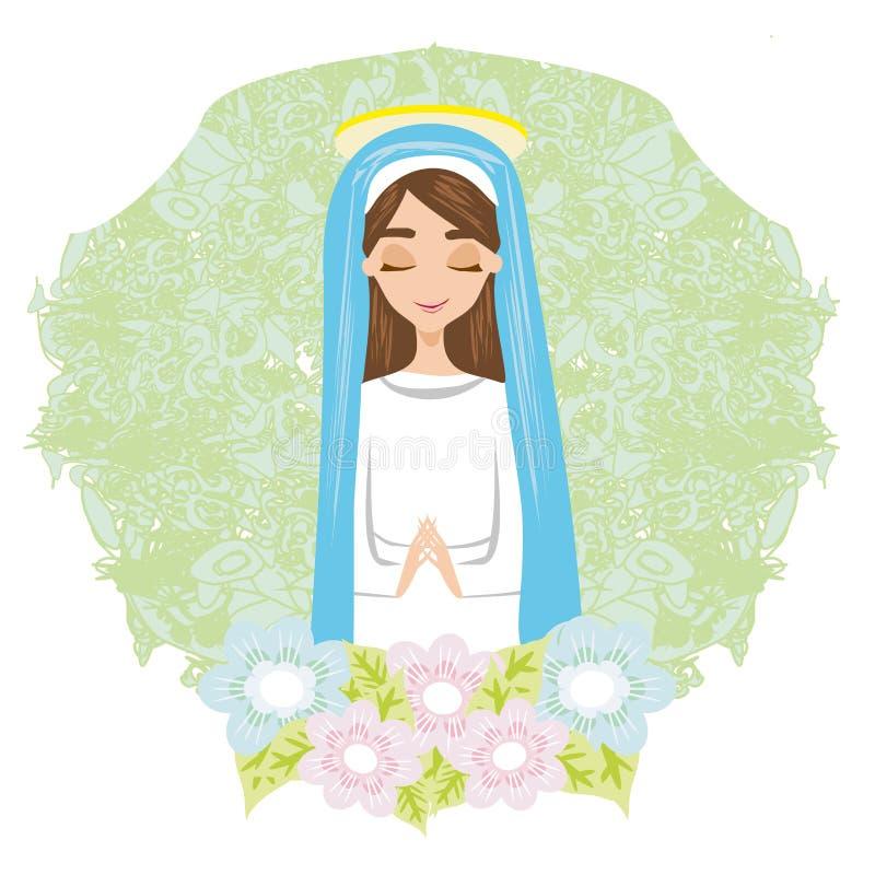 Święta Mary karta ilustracji