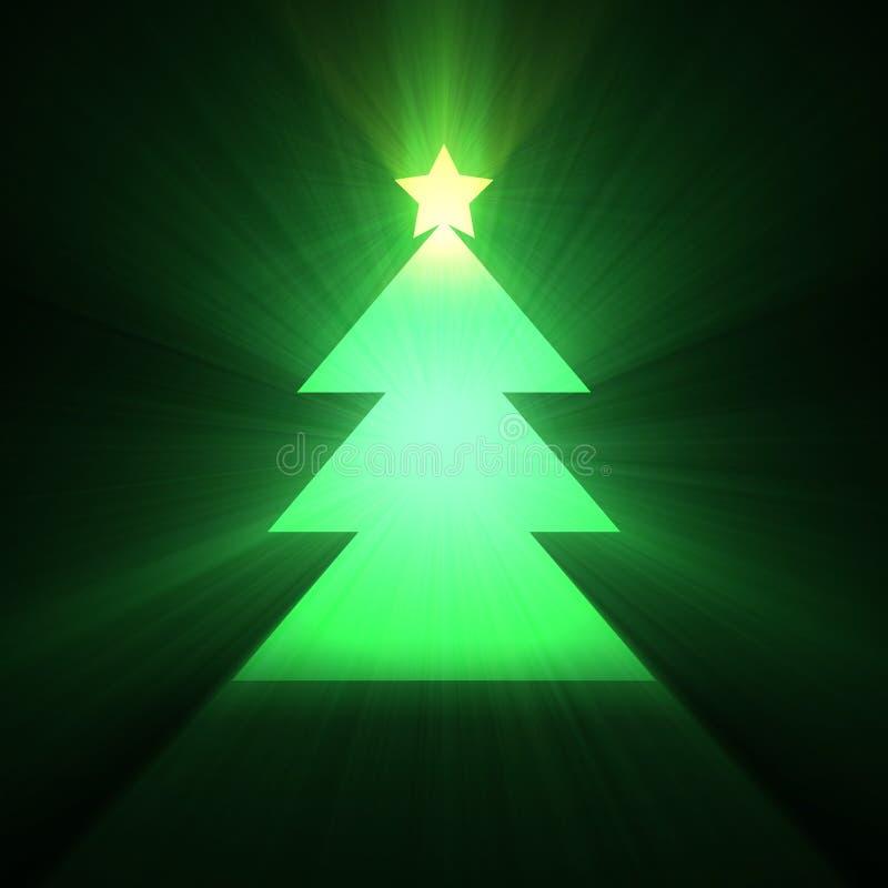 Święta migoczą światło rozjarzonego drzewa ilustracji
