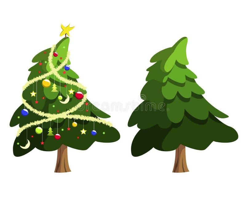 Święta moje portfolio drzewna wersja nosicieli ilustracja wektor