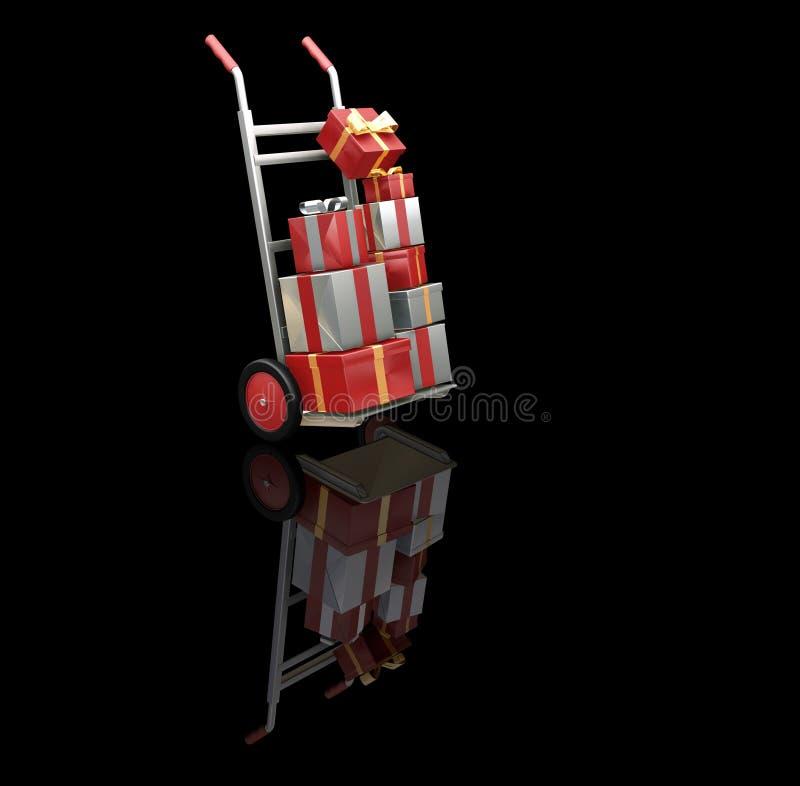 Święta na zakupy. ilustracja wektor