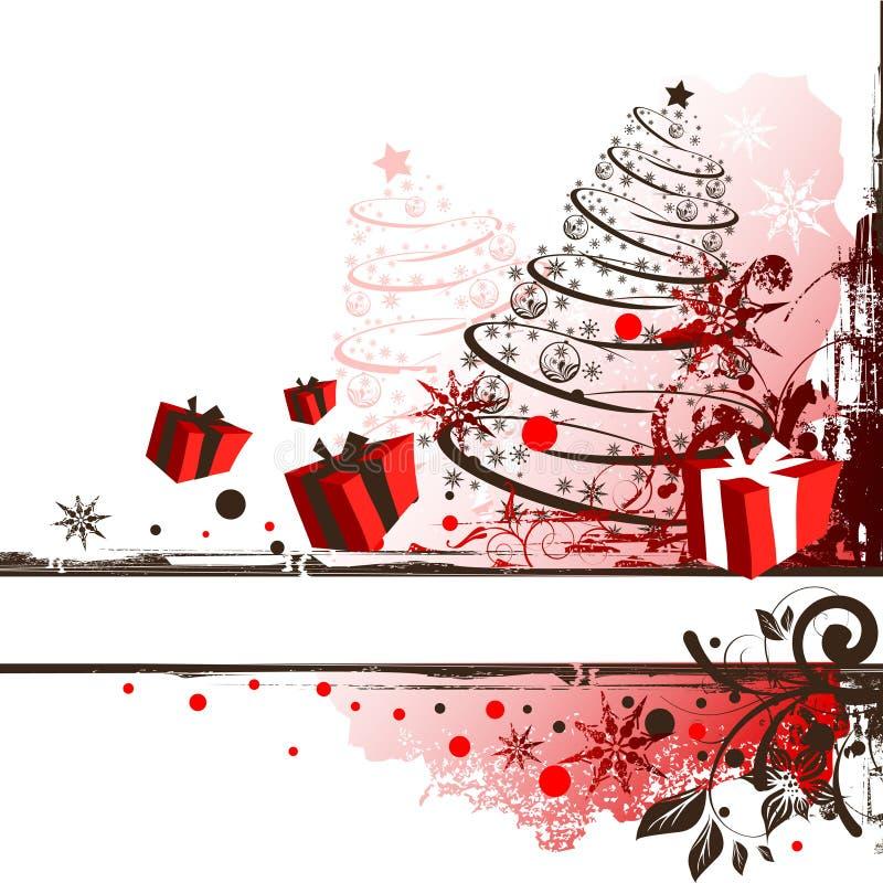 Święta obramiają crunch royalty ilustracja