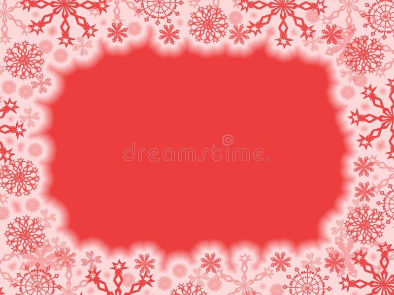 Święta obramiają czerwony ilustracji