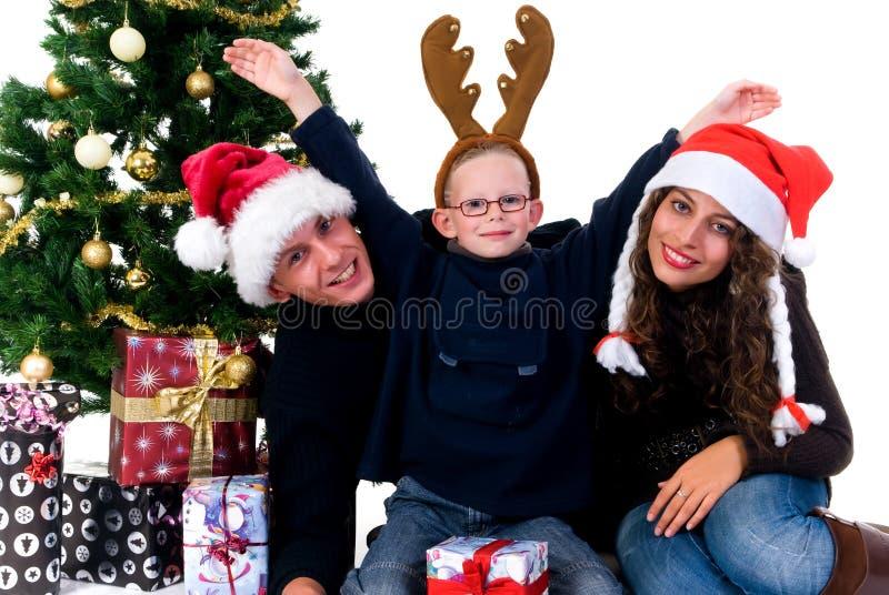 Święta para dzieci obraz stock
