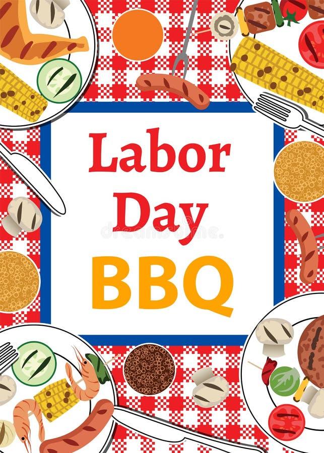 Święta Pracy BBQ royalty ilustracja