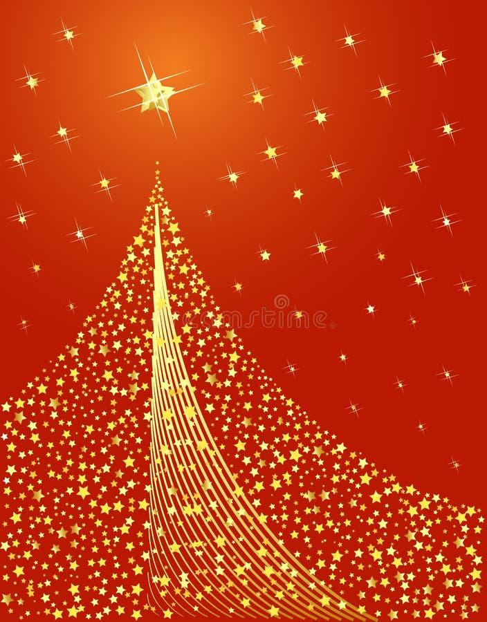 Święta są projektowane złote drzewo ilustracja wektor
