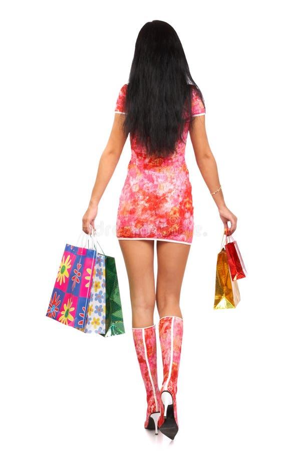 Święta sklepy kobiety obrazy stock