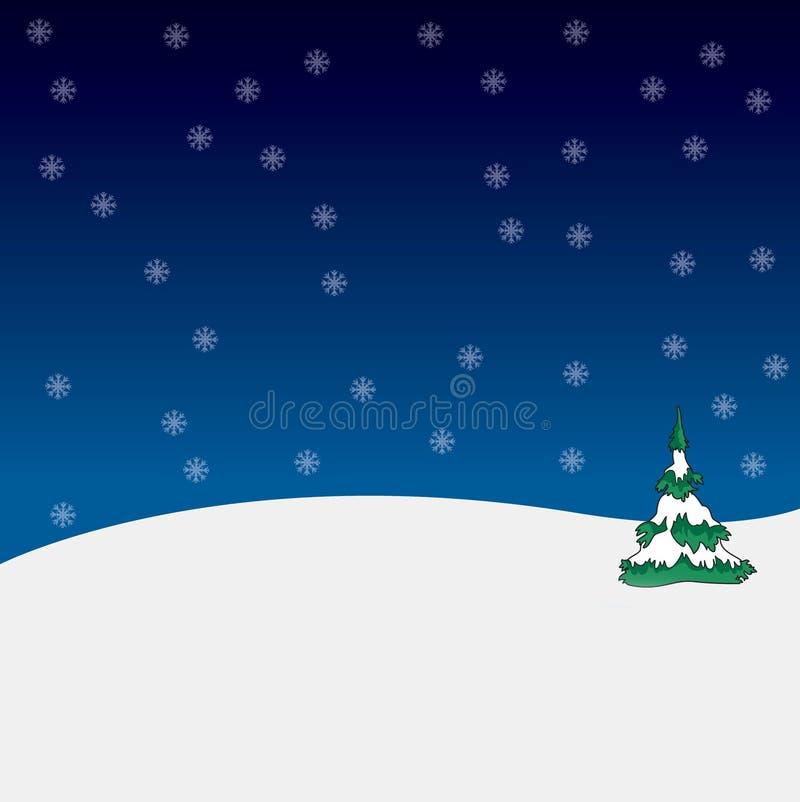 Święta snowflackes tree ilustracja wektor