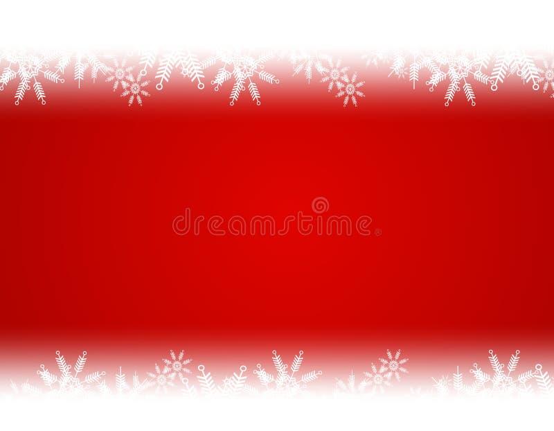 Święta tła Śniegu czerwony gradientowy white ilustracja wektor