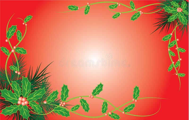 Święta tła jemioły drzewa futerkowy wektora royalty ilustracja