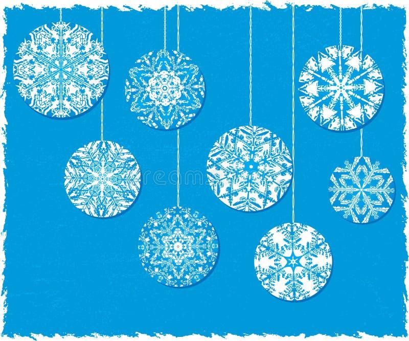 Święta tła niebieski ornamentów płatek śniegu royalty ilustracja