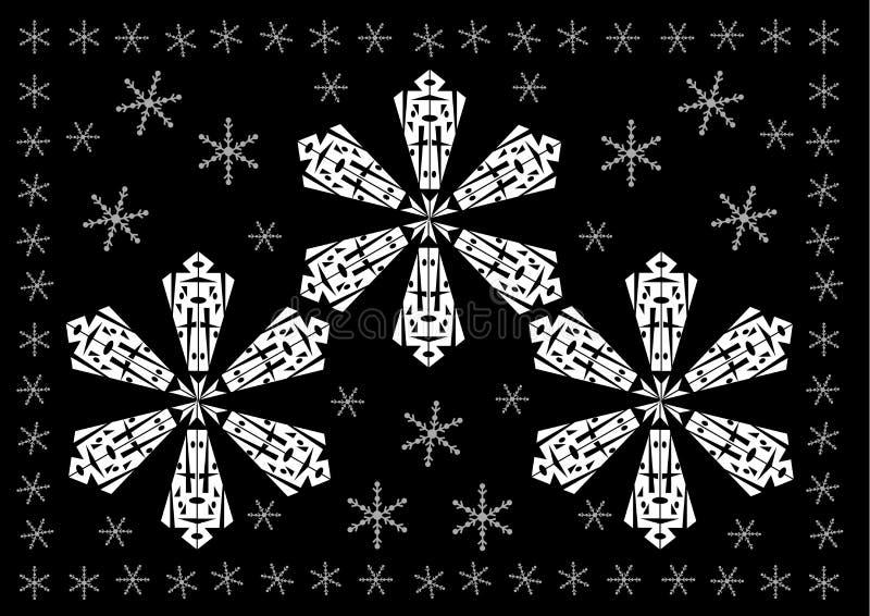 Święta tła płatków Śnieżka ilustracji
