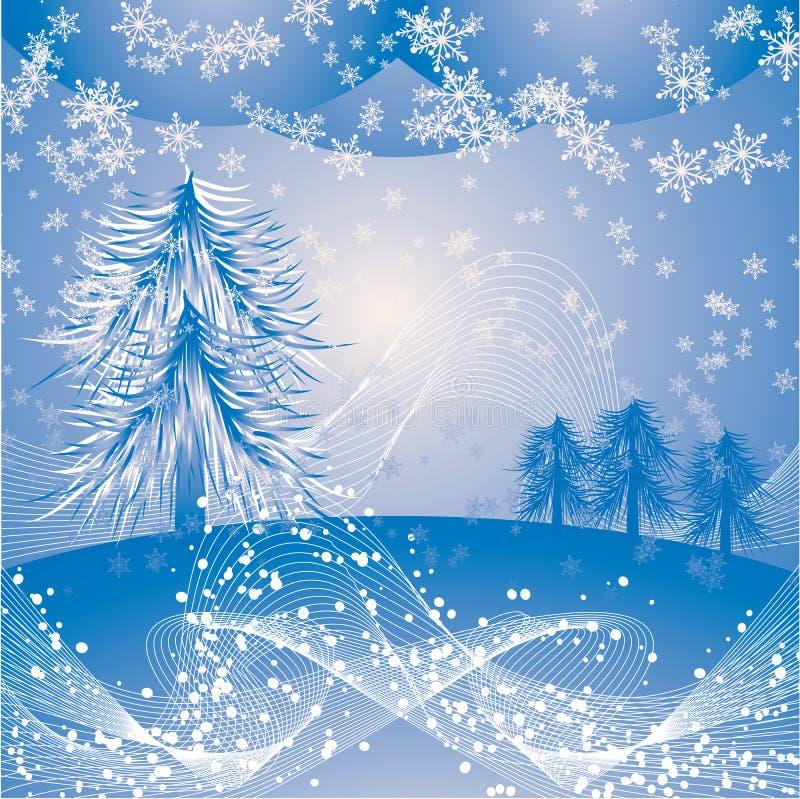 Święta tła płatki śniegu położenie ilustracji