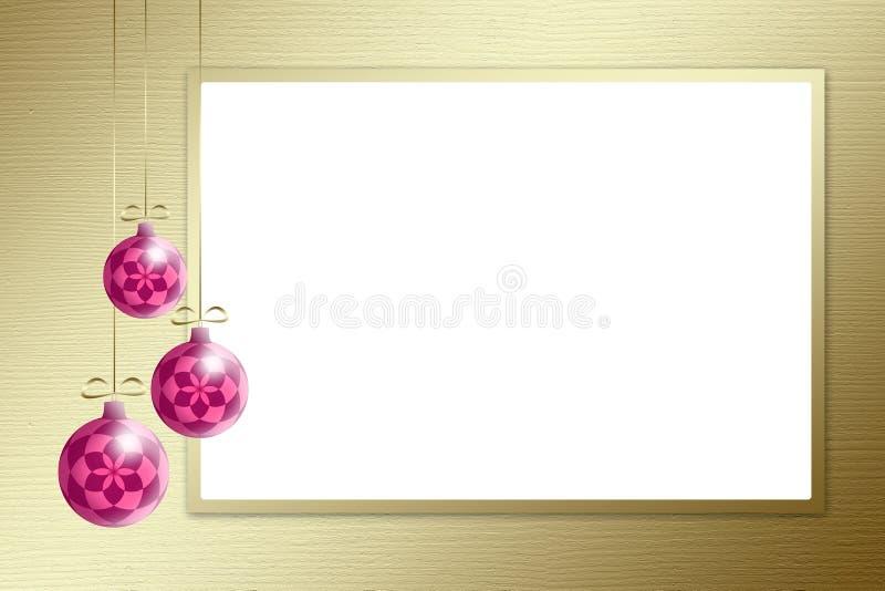 Święta tła złote sfery 3 royalty ilustracja