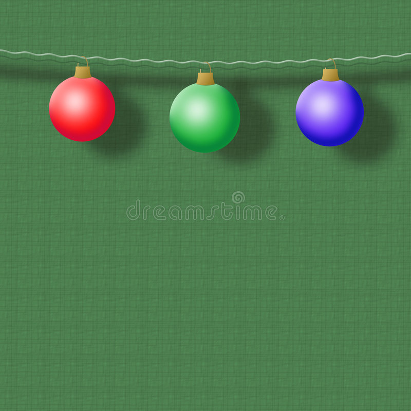 Święta tła zielone kuli ilustracji