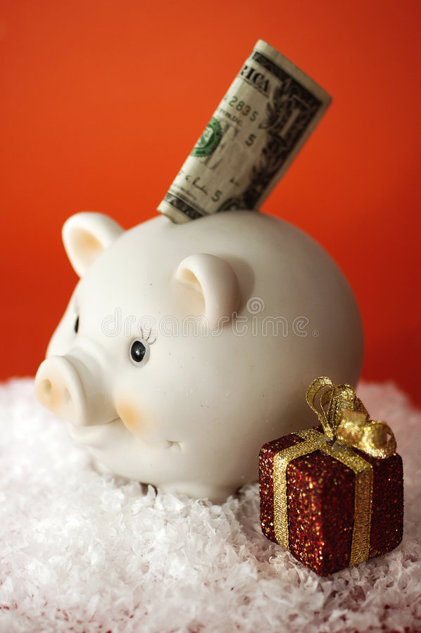 Święta to oszczędności zdjęcia stock