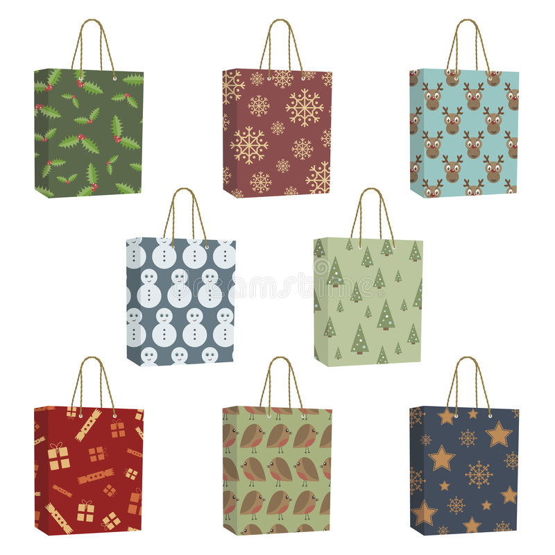 Święta torby ilustracji
