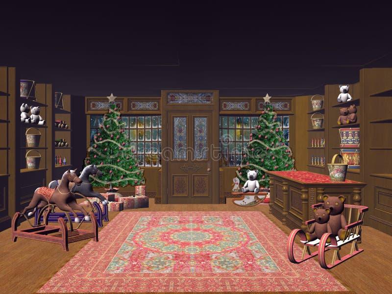 Święta trochę sklepu ilustracji