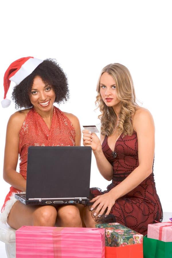 Święta wykładają zakupy zdjęcie stock
