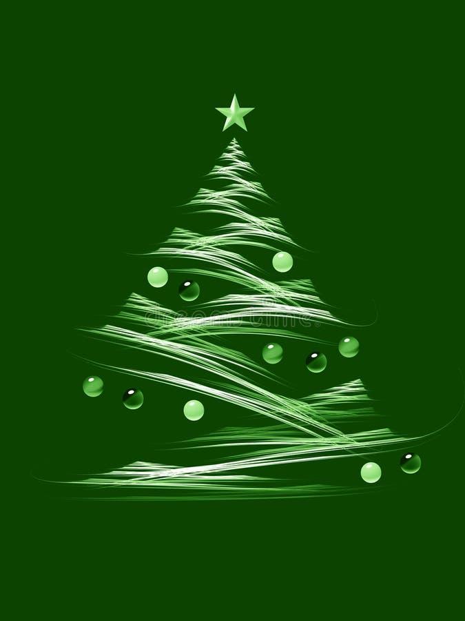 Święta zielone drzewa royalty ilustracja